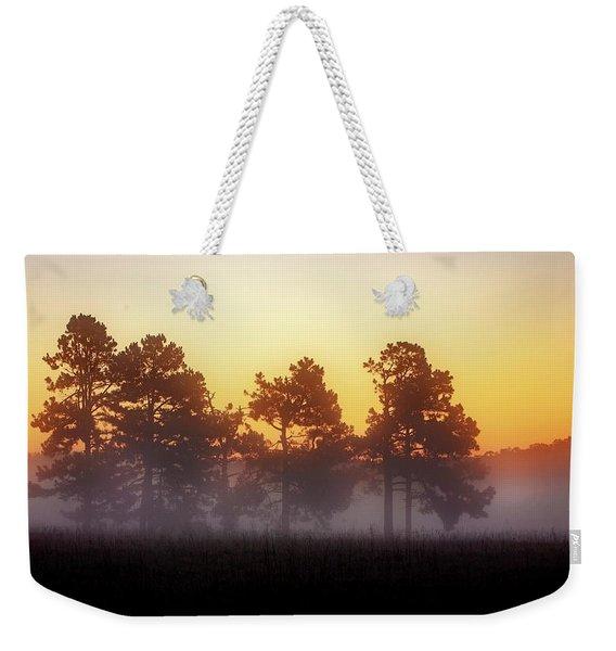 Foggy Ozark Morning  Weekender Tote Bag