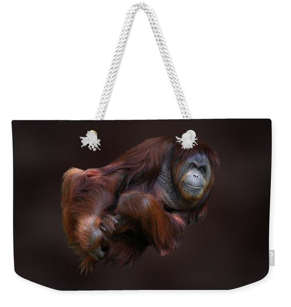 Folded Orangutan Weekender Tote Bag
