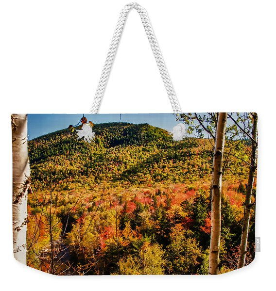 Weekender Tote Bag featuring the photograph Foliage View From Crawford Notch Road by Jeff Folger