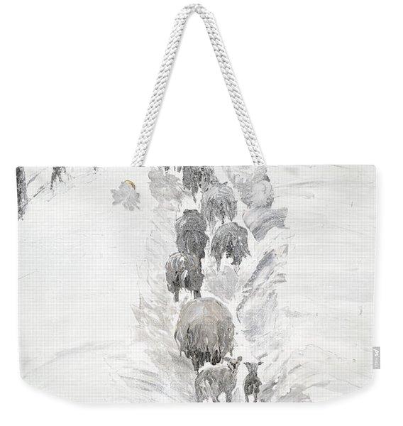 Follow The Flock Weekender Tote Bag