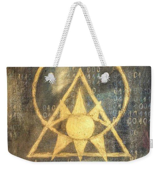 Follow The Light - Illuminati And Binary Weekender Tote Bag