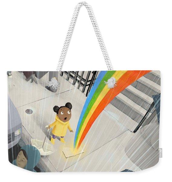 Follow Your Rainbow Weekender Tote Bag