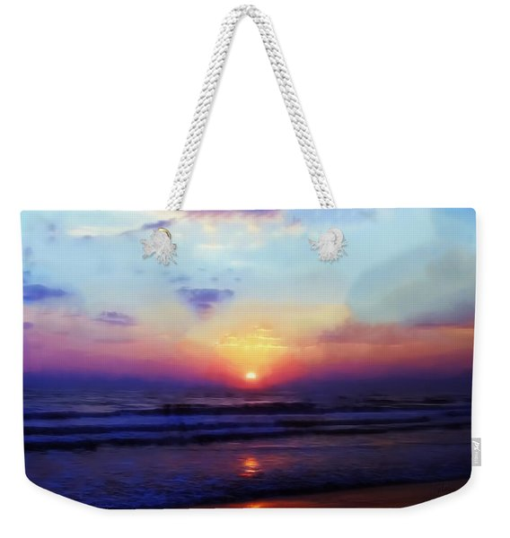 Folly Beach South Carolina Sunrise Weekender Tote Bag