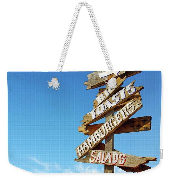 Food Directions Weekender Tote Bag