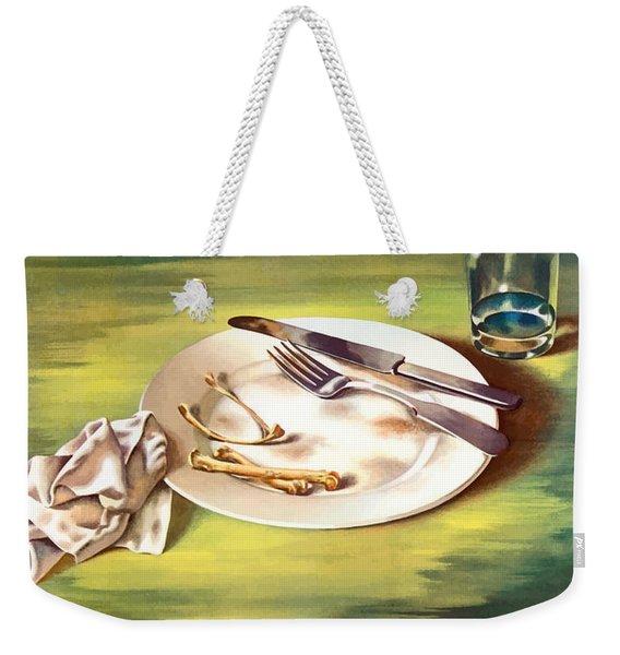 Food Is A Weapon -- Ww2 Propaganda Weekender Tote Bag