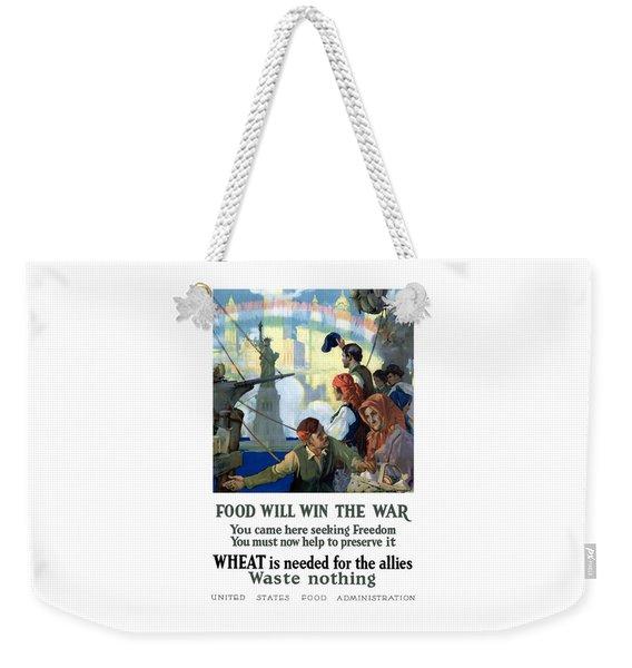 Food Will Win The War Weekender Tote Bag