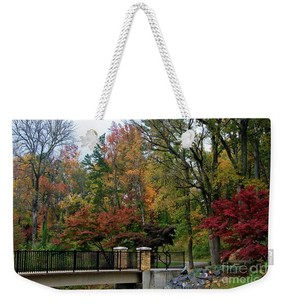 Foot Bridge In The Fall Weekender Tote Bag