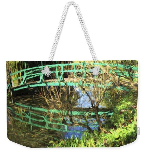 Foot Bridge Reflections In Monet's Garden Weekender Tote Bag