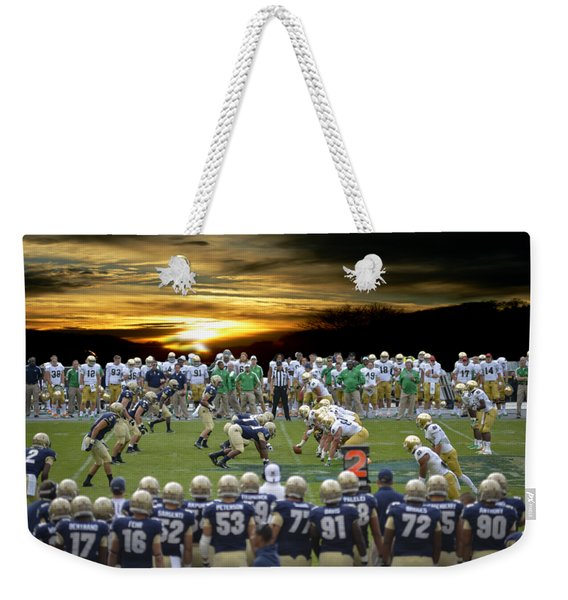 Football Field-notre Dame-navy Weekender Tote Bag