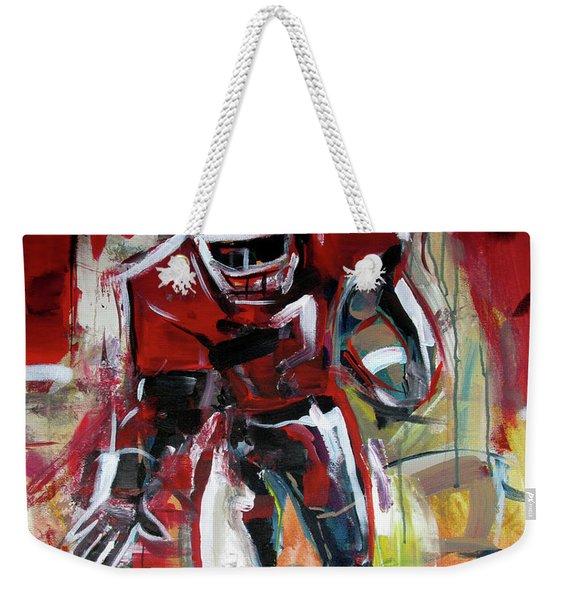 Football Run Weekender Tote Bag