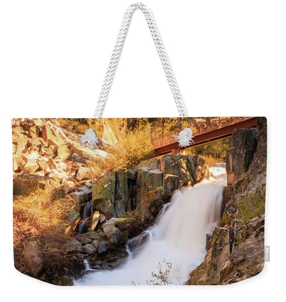 Footbridge Over Upper Eagle's Spring Flow Weekender Tote Bag