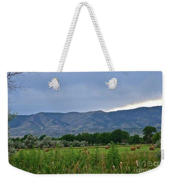 Foothills Of Fort Collins Weekender Tote Bag