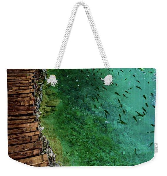 Footpaths And Fish - Plitvice Lakes National Park, Croatia Weekender Tote Bag