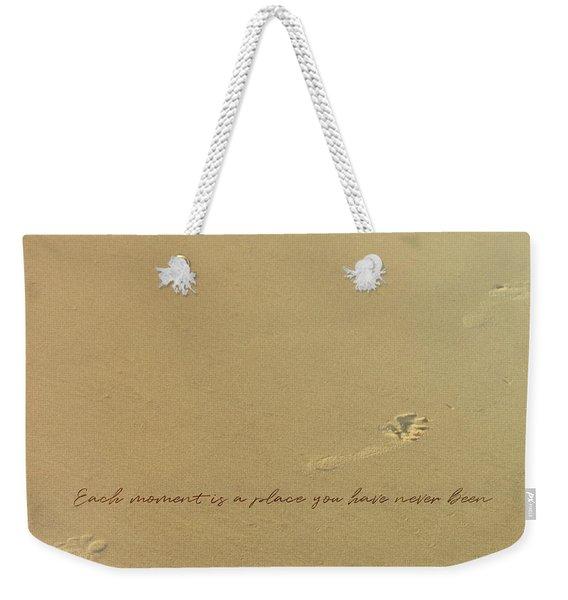 Footprints Quote Weekender Tote Bag