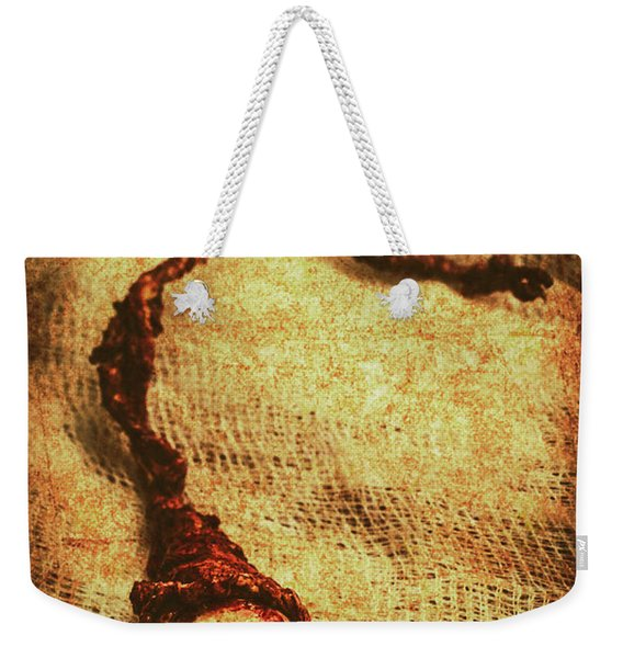 For A Bandaged Iris Weekender Tote Bag
