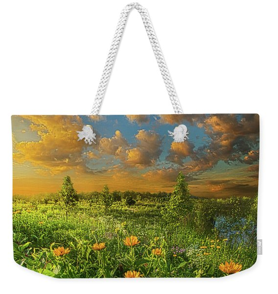 For A Moment All The World Was Right Weekender Tote Bag