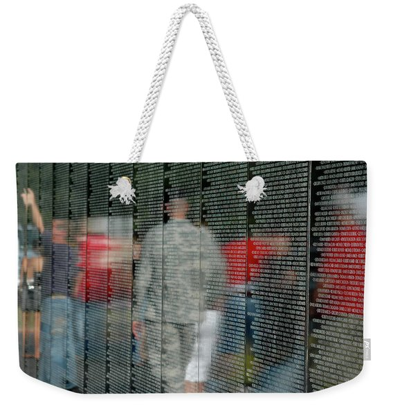 Weekender Tote Bag featuring the photograph For My Country by Carolyn Marshall