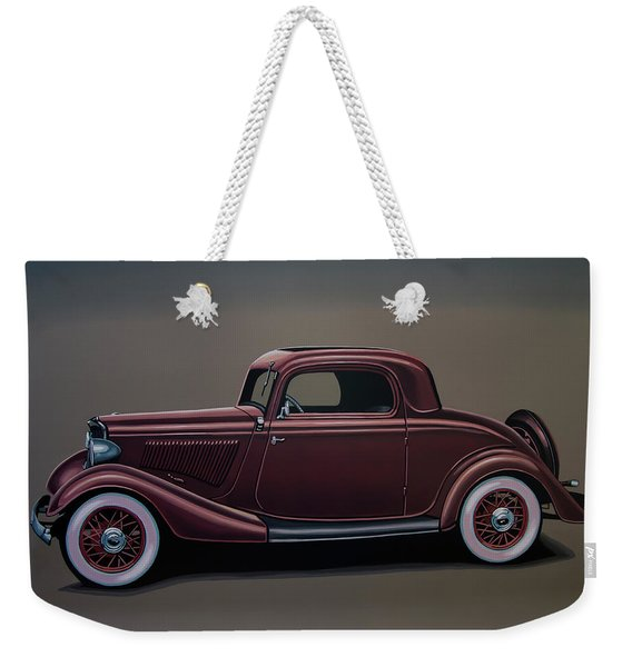 Ford 3 Window Coupe 1933 Painting Weekender Tote Bag
