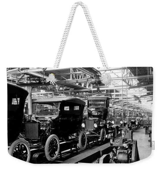 Ford Model T Assembly Line, 1920s Weekender Tote Bag