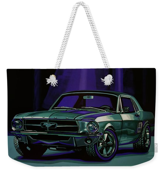 Ford Mustang 1967 Painting Weekender Tote Bag