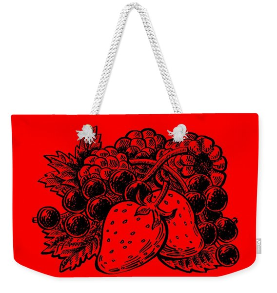 Forest Berries Weekender Tote Bag