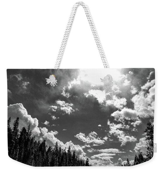 A New Day, Black And White Weekender Tote Bag