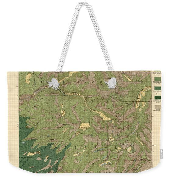 Forest Cover Map 1886-87 - Dardanelles Quadrangle - California - Geological Map Weekender Tote Bag