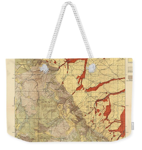Forest Cover Map 1886-87 - Dayton Quadrangle - Wyoming - Geological Map Weekender Tote Bag
