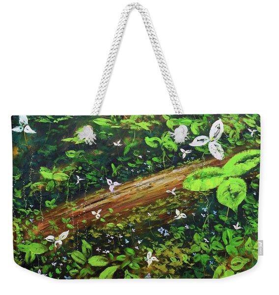 Forest Flowers Weekender Tote Bag
