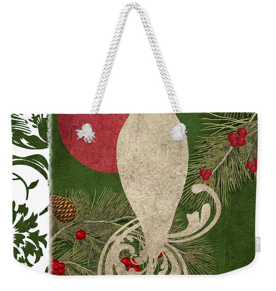Forest Holiday Christmas Owl Weekender Tote Bag
