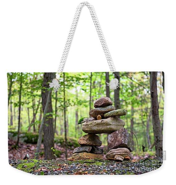 Forest Inukshuk Weekender Tote Bag