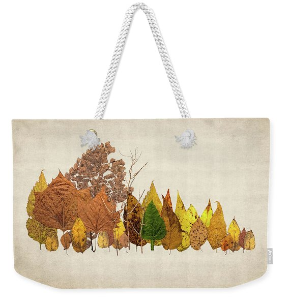 Forest Of Autumn Leaves I Weekender Tote Bag