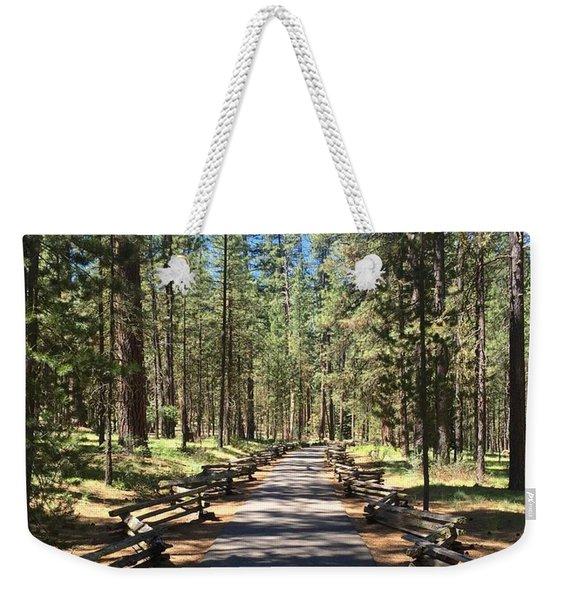 Forest Path Weekender Tote Bag