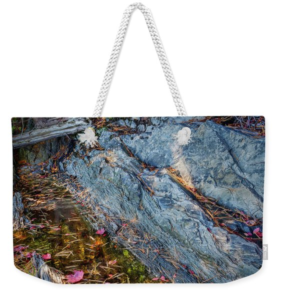 Forest Tidal Pool In Granite, Harpswell, Maine  -100436-100438 Weekender Tote Bag