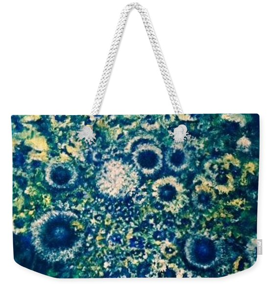 Weekender Tote Bag featuring the photograph Forget Me Knot by Laurie Lundquist