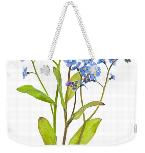 Forget-me-not Flowers On White Weekender Tote Bag