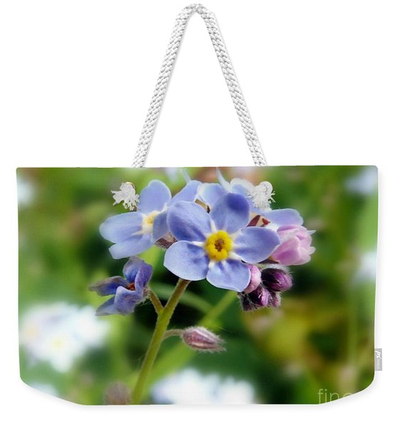 Forget-me-not Weekender Tote Bag