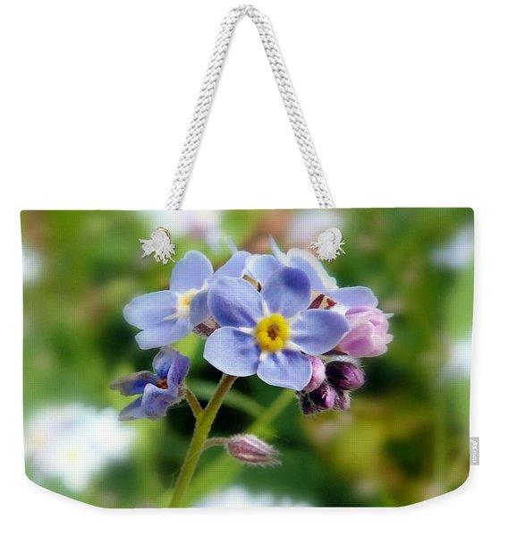 Forget-me-not Weekender Tote Bag