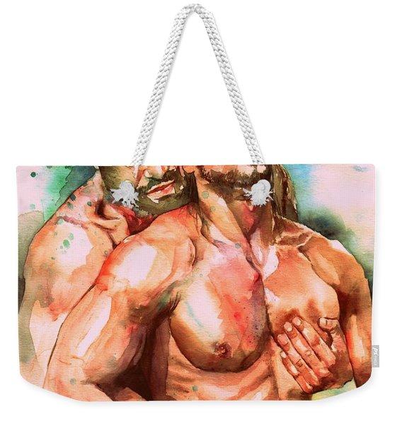 Forget Me Not Weekender Tote Bag