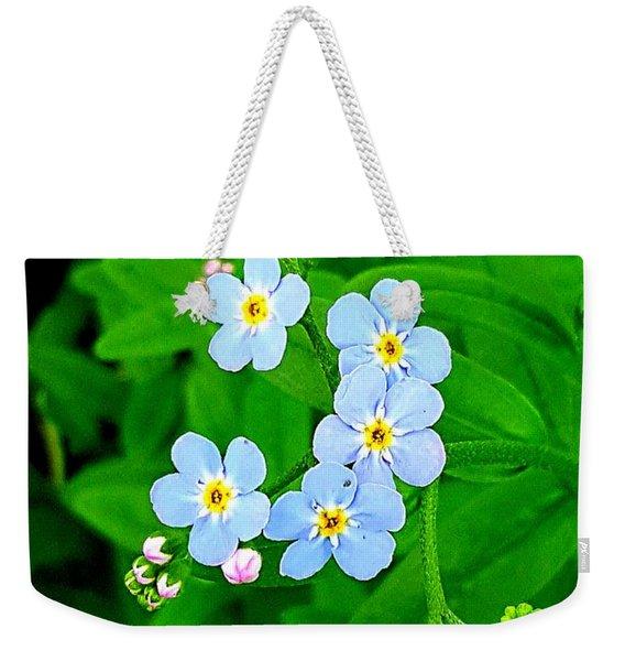 Forget Me Nots Weekender Tote Bag