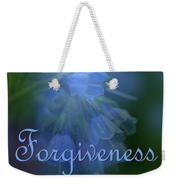 Forgiveness Blue Bells Weekender Tote Bag
