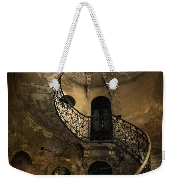 Weekender Tote Bag featuring the photograph Forgotten Staircase by Jaroslaw Blaminsky