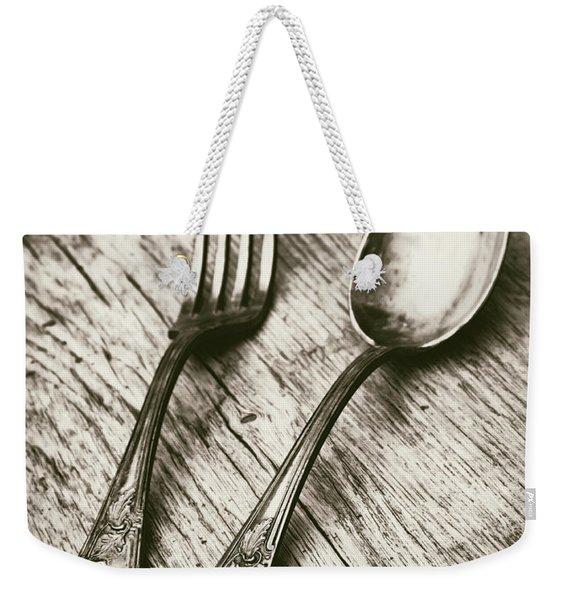Fork And Spoon Weekender Tote Bag