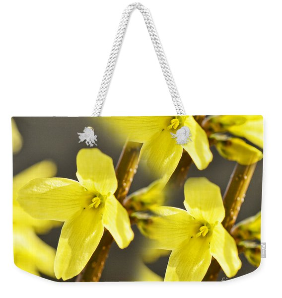 Forsythia Three Weekender Tote Bag