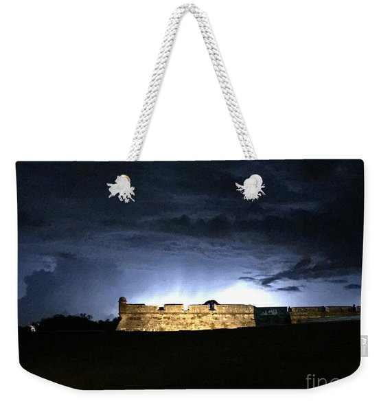 Lightening At Castillo De San Marco Weekender Tote Bag