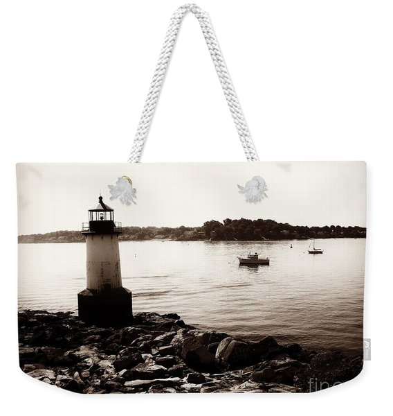 Fort Pickering Lighthouse, Winter Island, Salem, Massachusetts Weekender Tote Bag