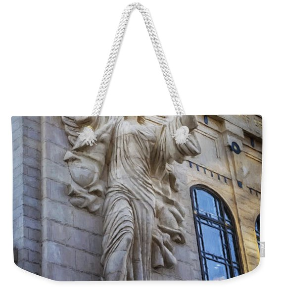 Fort Worth Impressions Bass Hall Angel Weekender Tote Bag
