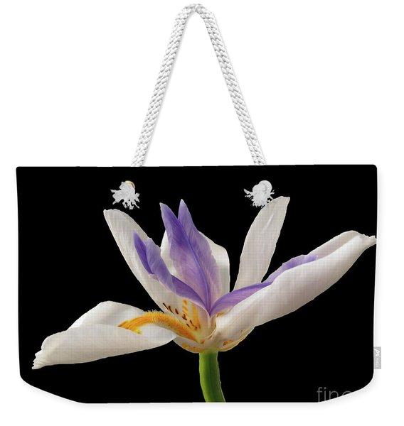 Fortnight Lily On Black Weekender Tote Bag