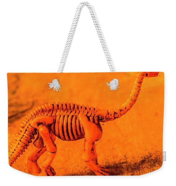 Fossilised Exhibit In Toy Dinosaurs Weekender Tote Bag