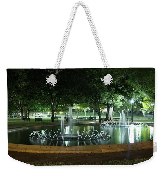 Fountain At Night Weekender Tote Bag